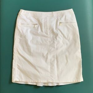 "White Etcetera ""bustle"" mini skirt"